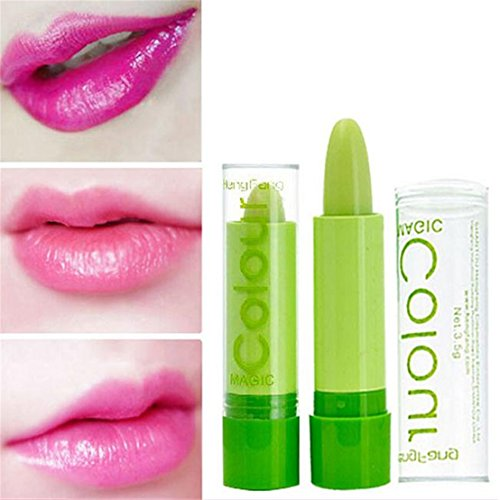 GUAngqi Magic Temperature Color Changing Lipstick Moisture Green to Pink Lip
