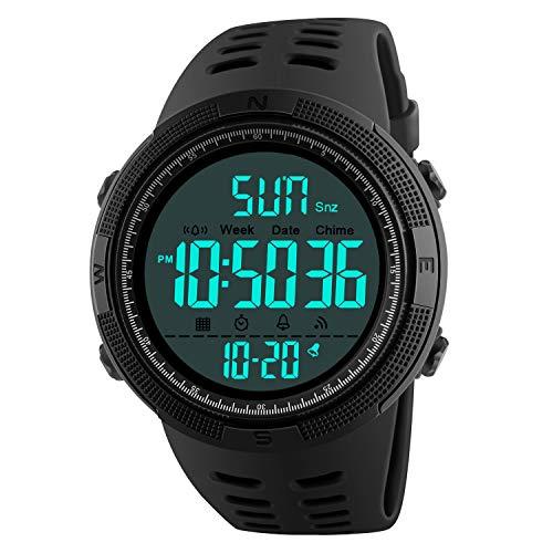 Mens Digital Sport Watch, Military Waterproof Watches