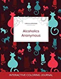 Adult Coloring Journal: Alcoholics Anonymous (Turtle Illustrations, Cats)