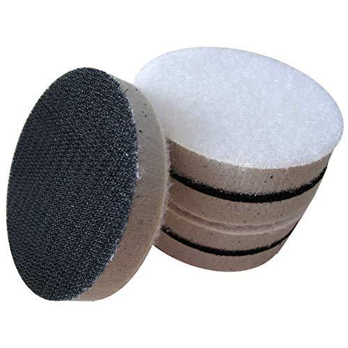 High Density Sponge Interface Pad Hook and Loop 2 Inch 50mm Sander Backing Pad Polishing Pad (Pack of 5) by ATIKA