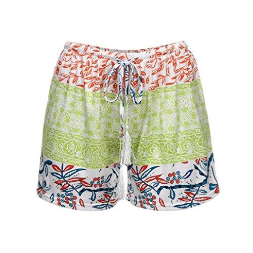 Donna Shorts Spiaggia Alto Bohemien Estate Casual Donna VICGREY Casual Shorts Pants Hot Sexy Shorts Verde Aumento Estivi Stampa Elegante YYH0dZ