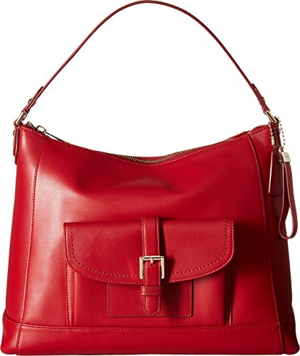 COACH Women's Charlie Leather Hobo Classic Red One Size by Coach