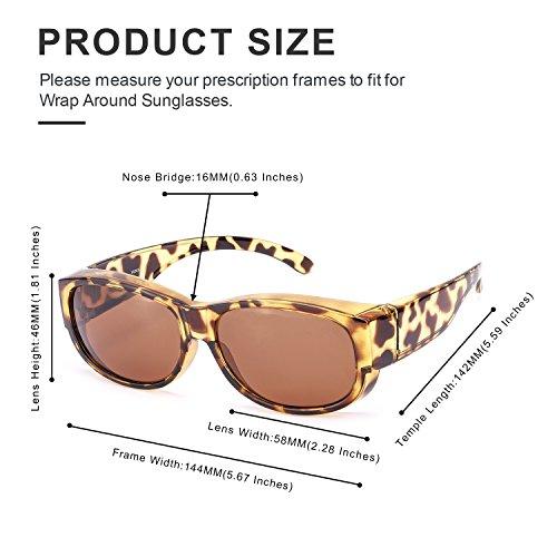 las Gafas Marrón de Lectura Desgaste Graduadas Sol Polarizadas Colocar Sobre UVB Protección Gafas Sobre Gafas y 100 UVA Normales de Carey BRqnxvxwzp