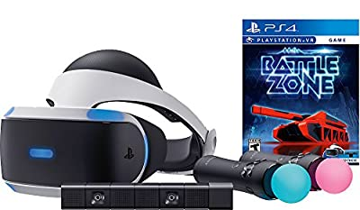 Sony PlayStation VR PSVR Battlezone Starter Bundle 4 items: VR,motion, camera and vr game disc- PSVR Battlezone - PlayStation 4