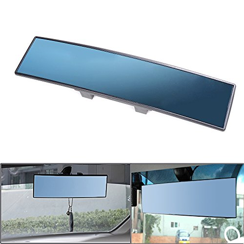 Custom style Wide Anti Glare Blue Interior Convex Clip On Rearview 300mm x 75mm Mirror For Chevrolet Dodge Ford Jeep GMC