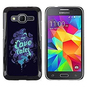 LECELL--Funda protectora / Cubierta / Piel For Samsung Galaxy Core Prime SM-G360 -- Children'S Book Cover Read Tales Night --