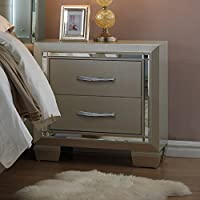 Picket House Furnishings Glamour Nightstand Modern/Contemporary/Champagne/Solid Wood and Plywood Framing