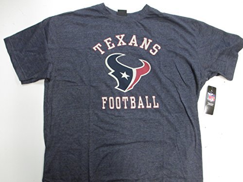 Houston Texans Mens Big and Tall 5X-Large Screened Texans Football T-shirt PAMZ 3434 5XL Texans Football T-shirt