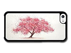 MMZ DIY PHONE CASECool Japanese Sakura Cherry Illustration Pink Handmade Style case for iphone 5/5s