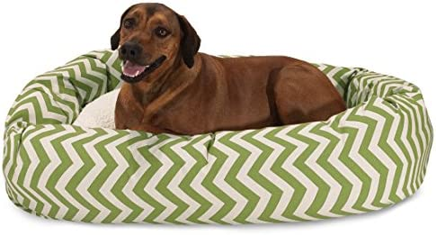 Majestic Pet Chevron Sherpa Bagel Bed