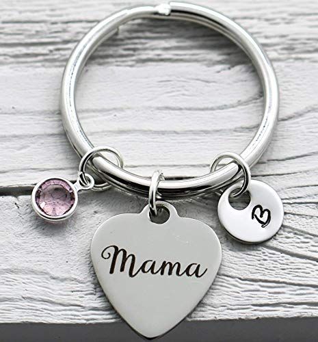 Mama Keychain for Mom Customized - Personalized Mother's Day...