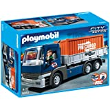 Playmobil - 5255 - Jeu de Construction - Camion Porte-Conteneurs