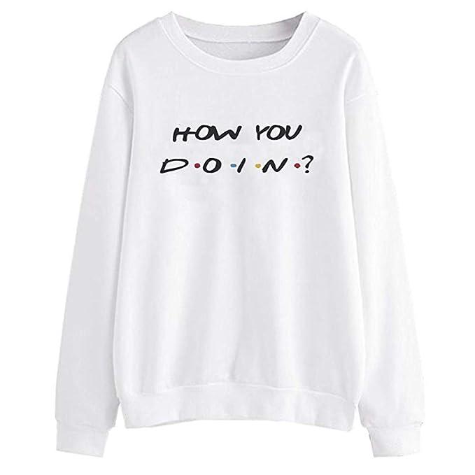Sudaderas para Mujer, K-Youth Otoño Ropa Moda How You D O I N ? Letras Sudaderas