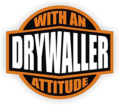 Helmet Decal Label Lunch Tool Box Drywall Drywaller With An Attitude Hard Hat Sticker