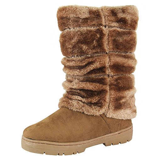 Unbekannt - botas de nieve Mujer - beige camel