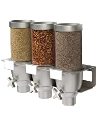Rosseto EZ533 3 Container Spice And Powder Wall Mount Dispenser 0 65 Gallon