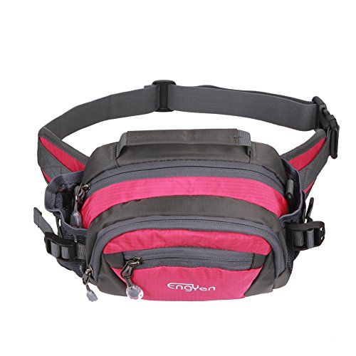 ENGYEN Waist Bag,Fanny Pack,Adjustable Strap,with Adjustable Water Bottle Holder,Outdoor,Sports,Jogging,Walking,Hiking,Cycling,Carrying iPhone 7 8 Plus X Samsung for Men/Women