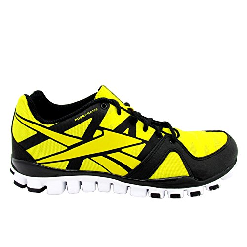Reebok real Flex Transition 3,0 corsa nero/giallo/bianco scarpe.