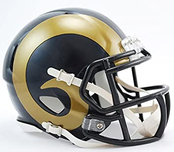 288b04498 Image Unavailable. Image not available for. Color  Los Angeles Rams Riddell  Revolution Speed Mini Football Helmet