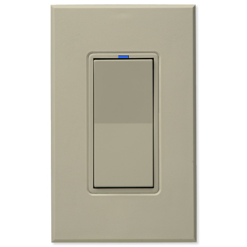 PCS PulseWorx UPB Wall Switch-Relay/Dimmer, Almond (WS1C-A)