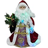 LED Santa 12'' Fiber Optic Tree Topper or Table Centerpiece