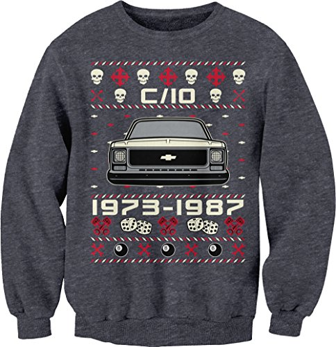 Chevy C10 Square Body - Ugly Christmas Sweater Sweatshirt