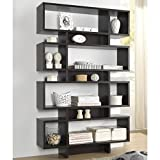 Display/ Storage Shelf Contemporary, Modern Ronan Dark Brown/ Espresso Modern Storage Shelf - Assembly Required FP-8DS-Shelf (3A). 70.25 in High x 44 in Wide x 11 in Long