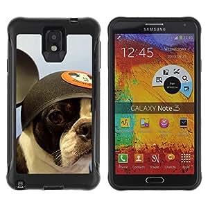 LASTONE PHONE CASE / Suave Silicona Caso Carcasa de Caucho Funda para Samsung Note 3 / French Bulldog Boston Bull Terrier Dog