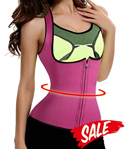 Neoprene-Women-Fat-Burner-Hot-Sauna-Shaper-Gridle-Waist-Trainer-Vest-With-Zipper