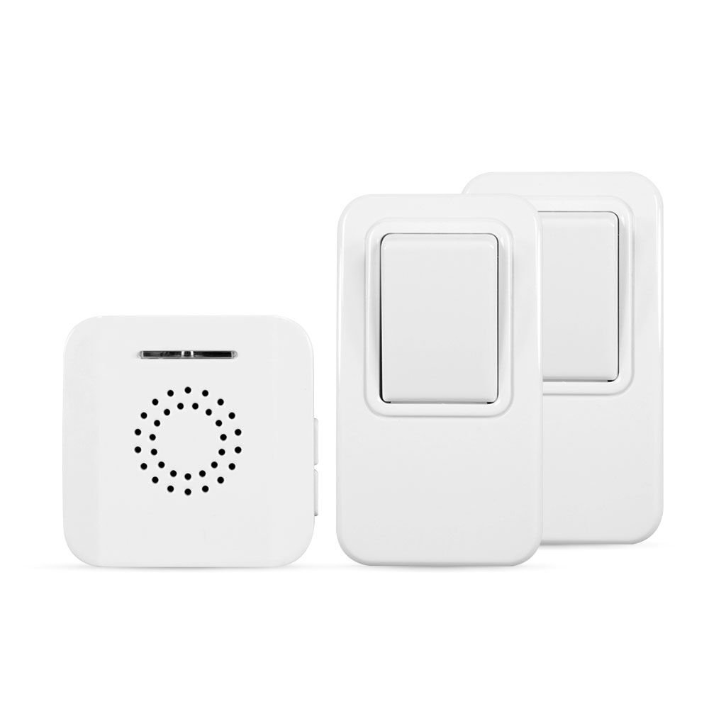 For Homes Battery-Free MightyHand Wireless Doorbell w// 38 Tunes /& 394 ft Range Apartments /& Home Care; Easy Install