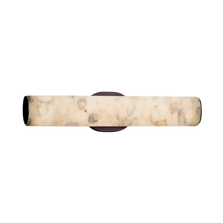 Polished Chrome Justice Design Group Lighting ALR-8651-CROM Alabaster Rocks Eliptical LED Linear Wall//Bath Light Finish Shade