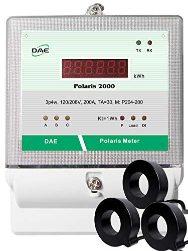 DAE P204-200-S KIT, UL kWh Smart Submeter, 3P4W(3 hot wire, 1 Neutral), 200A, 120/208v, 3 Solid Core CTs(inner diameter 1.02