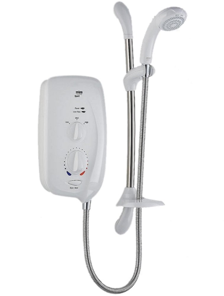 Mira Sport 9.0kW Electric Shower White/Chrome 1.1563.003: Amazon ...