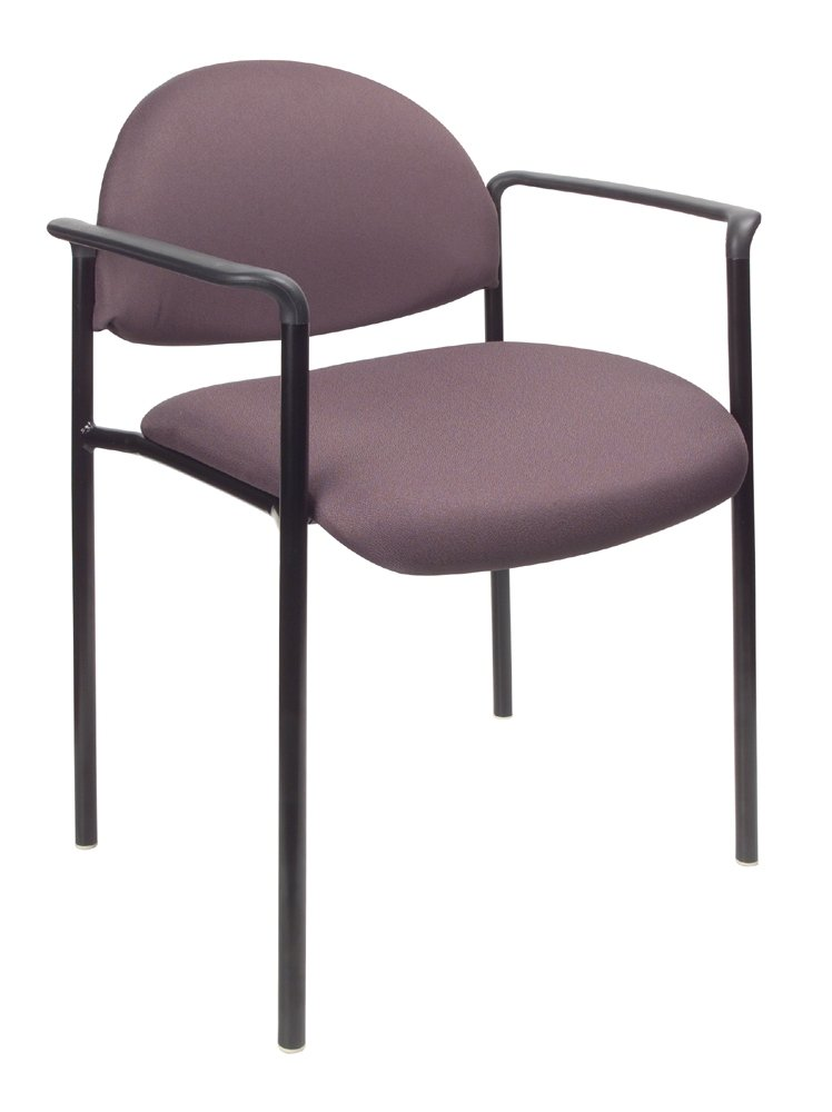 Amazon.com: Boss Office Products B9501 BK Dimond Fabric Stacking Chair With  Arms In Black: Kitchen U0026 Dining
