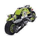 BIOZEA Magnetic Building Blocks Toys Pullback STUNT KING MotoGP DIY Assembly Toys Educational Tech BRICK 201 PCS Best Christmas Gift for Toddlers Kids