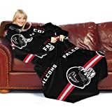 NFL Atlanta Falcons Comfy Throw Blanket with Sleeves, Stripes Design
