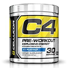 Cellucor C4 Pre Workout Supplements with Creatine, Nitric Oxide, Beta Alanine and Energy, 30 Servings, Icy Blue Razz