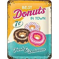 Le meilleur donuts en town. 7c. chocolat,fraise,framboise,iced. frais et delicious. Vieux rétro vintage design années 1950 1960's.Idéal pour maison,cuisine,magasin,bistrot,café,Restaurant,BARRE ,