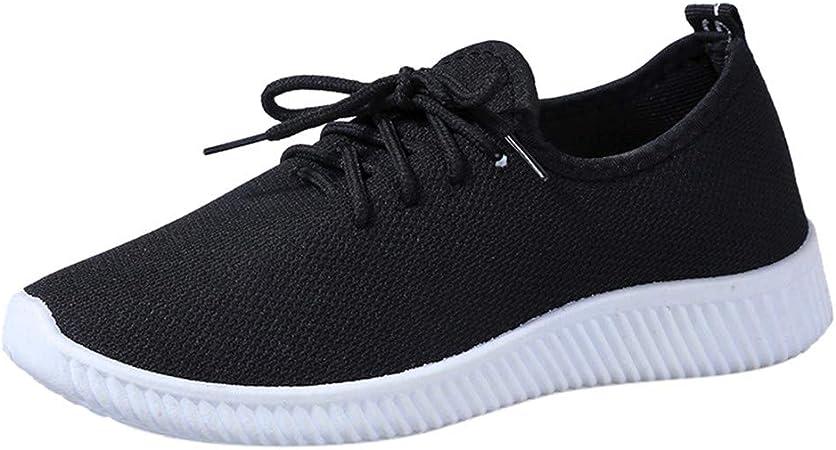 Jorich Zapatillas De Deportes Mujer Zapatos Deportivos para Correr Calzado Sneakers Running Zapatos De Ligero Running Fitness Antideslizantes Amortiguación (Negro, EU:39): Amazon.es: Hogar