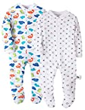 Marquebaby Baby Boys' Footed Pajama - 100% Cotton Zip Front Sleep and Play Sleeper - by