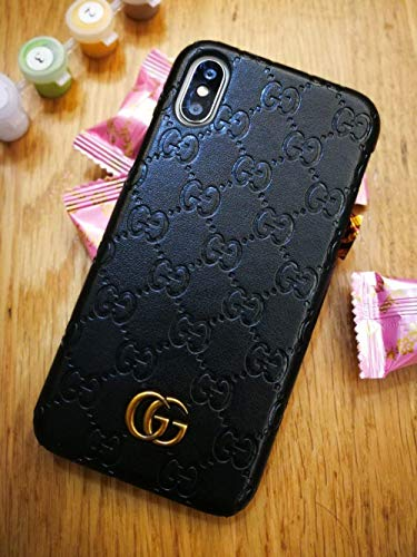- iPhone Xs Max Case, Black Premium PU Luxury Stylish Designer Fashion Leather Cover Case for iPhone Xs Max