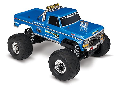 Bigfoot Monster Truck - Traxxas 36034-1 Bigfoot No. 1 2WD 1/10 Scale Monster Truck Vehicle, Blue
