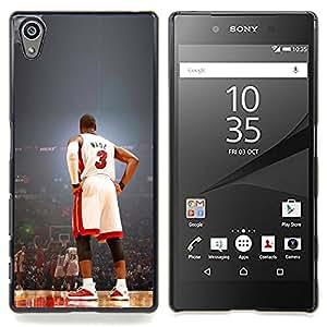 - Wade 3 Basketball - - Cubierta del caso de impacto con el patr??n Art Designs FOR Sony Xperia Z5 5.2 Inch Smartphone Queen Pattern