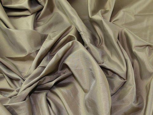 Plain Shot Taffeta Dress Fabric Beige - per metre