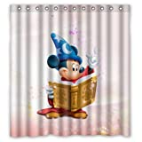 Zaza Custom Mickey-Mouse-and-Minnie-Mouse Waterproof Bathroom Shower Curtain 60