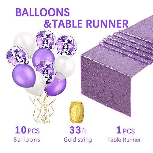 - Lavender table runner sequin fabric 1PCS 12