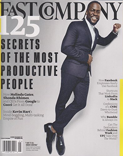 Fast Company December 2016 January 2017 Kevin Hart - 125 Secrets of the Most Productive - Googles Gucci