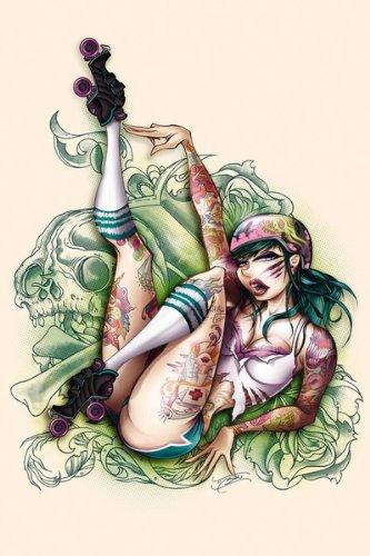 derby art Roller girl