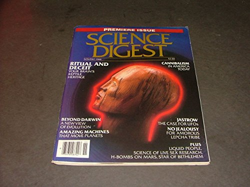 Science Digest Premiere Issue Nov/Dec, 1980 Cannibalism In America Today (Premier Science)