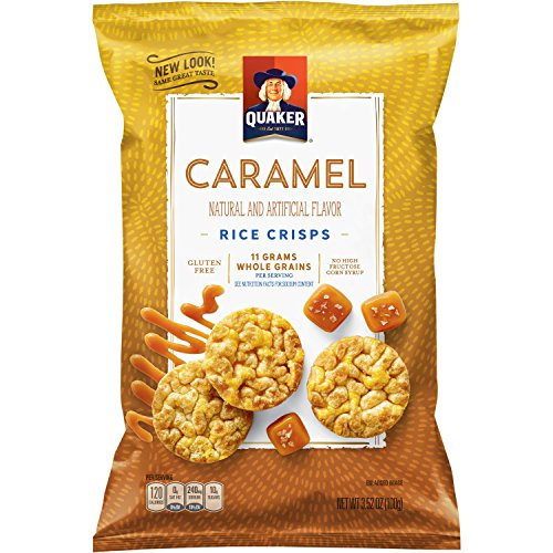 - Quaker Rice Crisps, Caramel Corn, 7.04 oz Bags, 6 Count (Packaging May Vary)